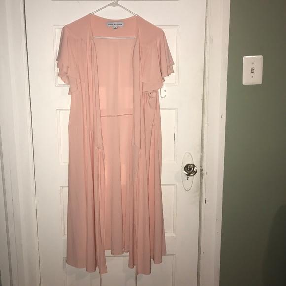 Dresses & Skirts - Emma & Michele Pink Wrap Ruffle Sleeve Dress 3/$20